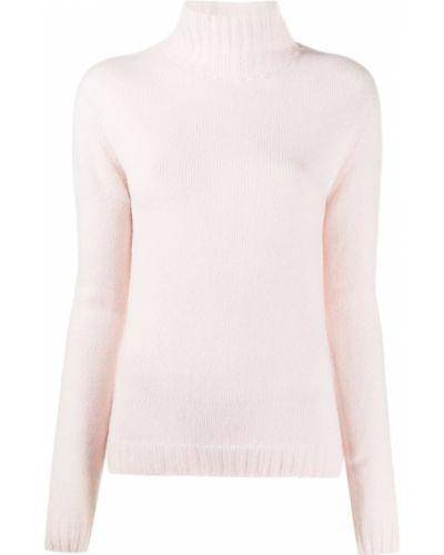 С рукавами кашемировый розовый джемпер Aragona