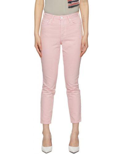 Зауженные белые укороченные джинсы стрейч с заплатками Grlfrnd
