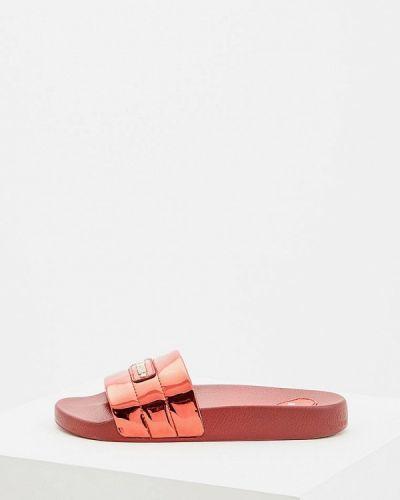 Красные сланцы пляжные Love Moschino