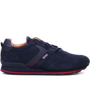 Кроссовки замшевые на шнуровке Hugo Boss