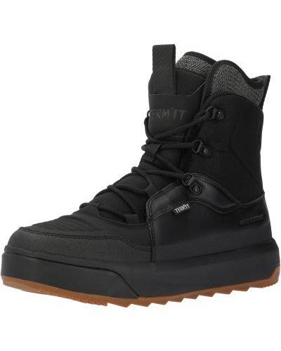 Черные кожаные сапоги на шнуровке Termit