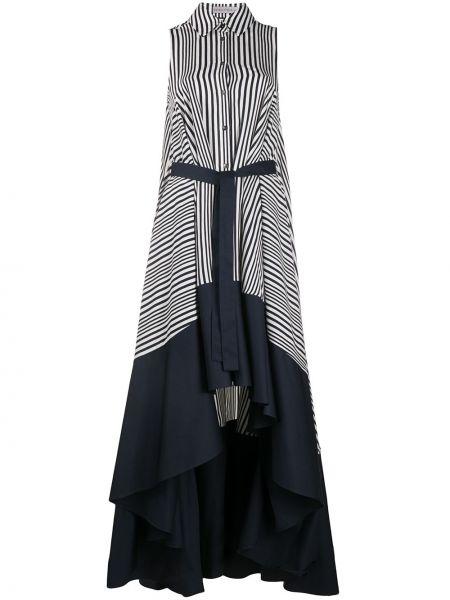 Асимметричное классическое платье с воротником без рукавов Palmer / Harding