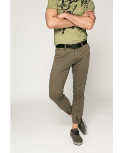 Зауженные брюки на резинке милитари Medicine