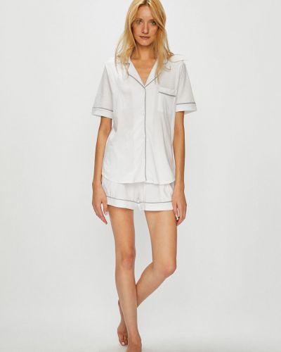 Пижама с шортами на пуговицах хлопковая Dkny