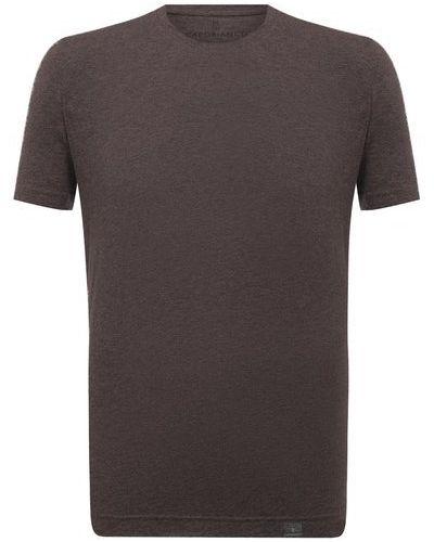 Коричневая итальянская футболка Capobianco