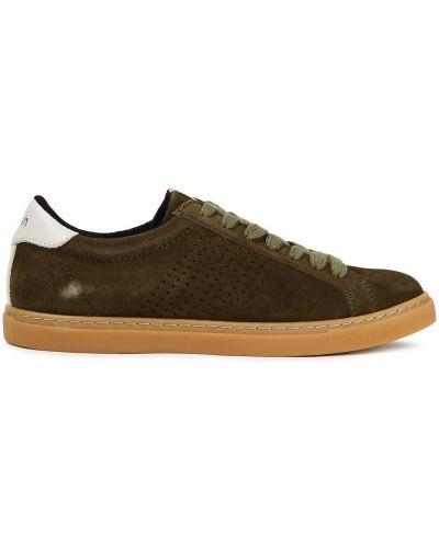 Зеленые кожаные кроссовки на шнурках Ba&sh