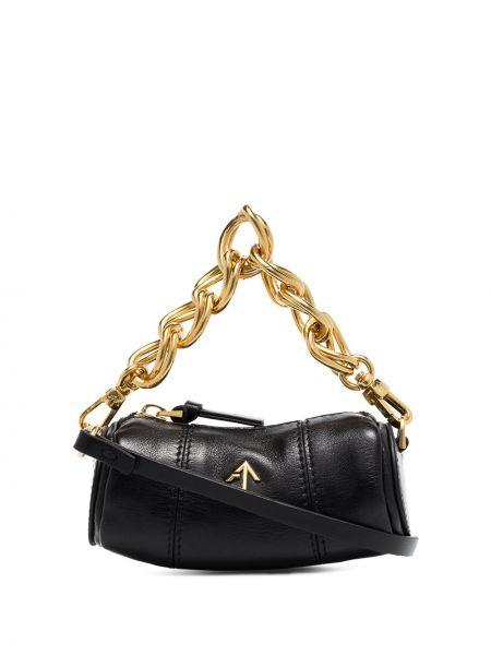 Черная маленькая сумка из натуральной кожи Manu Atelier