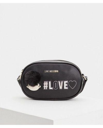 Черная поясная сумка Love Moschino