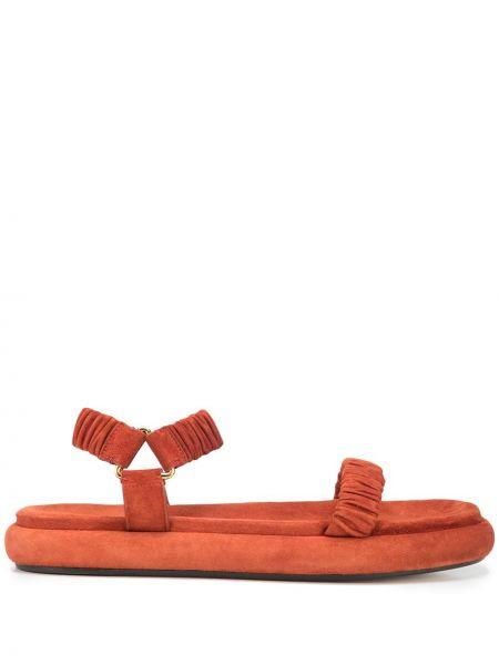 Pomarańczowe sandały zamszowe Khaite