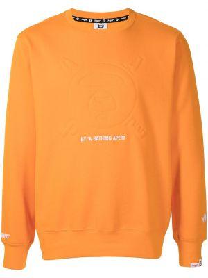 Pomarańczowa bluza bawełniana Aape By A Bathing Ape