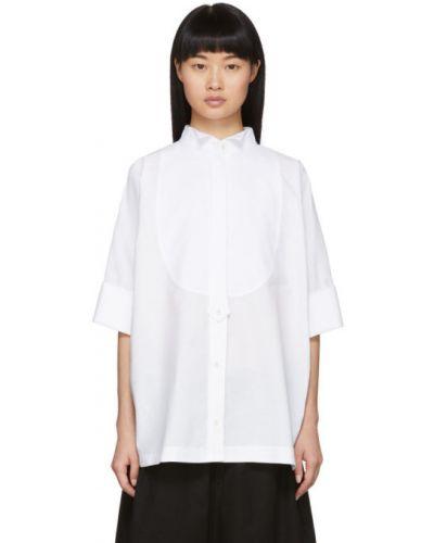 Рубашка белая без воротника Sacai