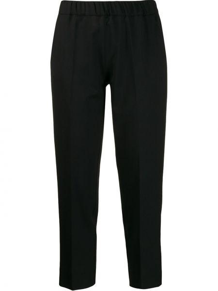 Черные укороченные брюки с воротником с поясом D.exterior