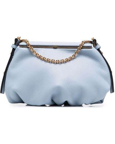 Niebieska torebka skórzana Lutz Morris