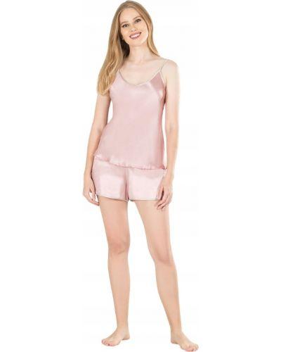 Satyna różowy piżama piżama Victoria's Secret