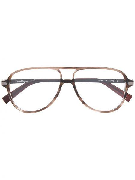 Oprawka do okularów - brązowe Salvatore Ferragamo Eyewear