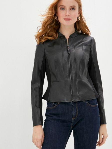 Кожаная куртка черная осенняя Gerry Weber