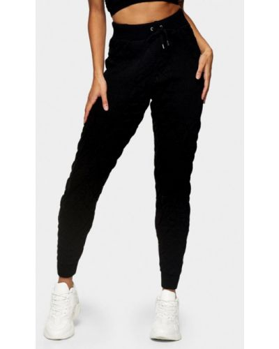 Черные спортивные брюки Topshop
