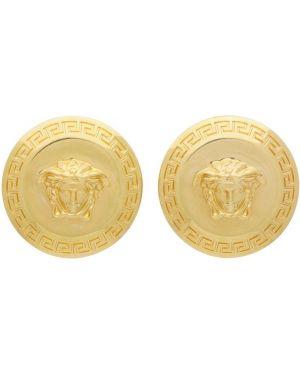 Золотые серьги греческие серьги-кольца Versace