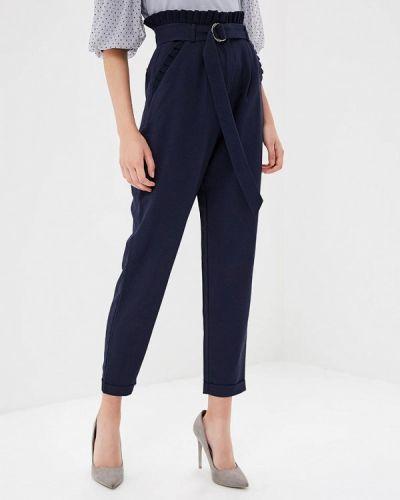 Синие брюки с завышенной талией Lost Ink.