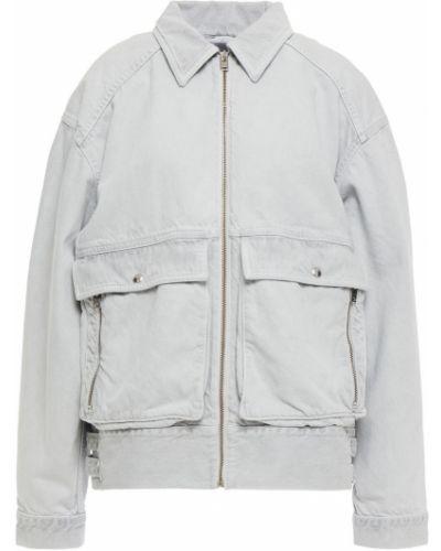 Хлопковая светло-серая джинсовая куртка с накладными карманами Iro
