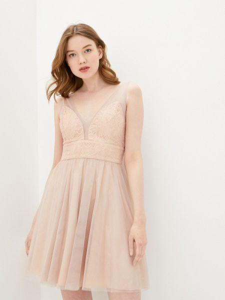 Вечернее платье розовое весеннее Soky & Soka