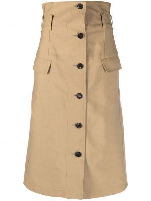 С завышенной талией юбка на пуговицах с карманами Victoria Beckham