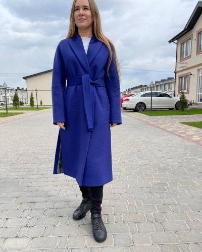 Пальто - синее Albanto