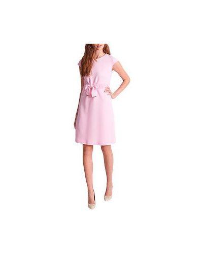 Деловое платье розовое шерстяное Luisa Spagnoli