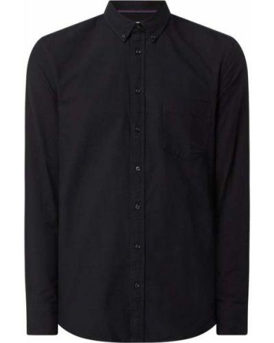 Czarna koszula materiałowa Montego