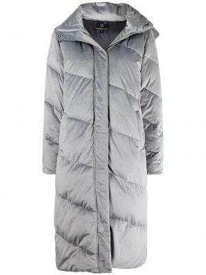 Серое пальто из полиэстера Unreal Fur