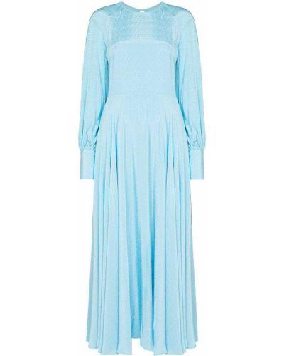 Платье миди с открытой спиной - синее Rotate