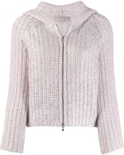 Прямая розовая длинная куртка D.exterior