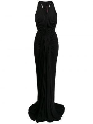 Свободное черное платье макси без рукавов Rick Owens Lilies