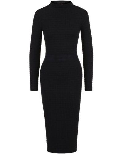 Платье миди приталенное с воротником-стойкой Emporio Armani