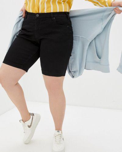 Черные джинсовые шорты Zizzi