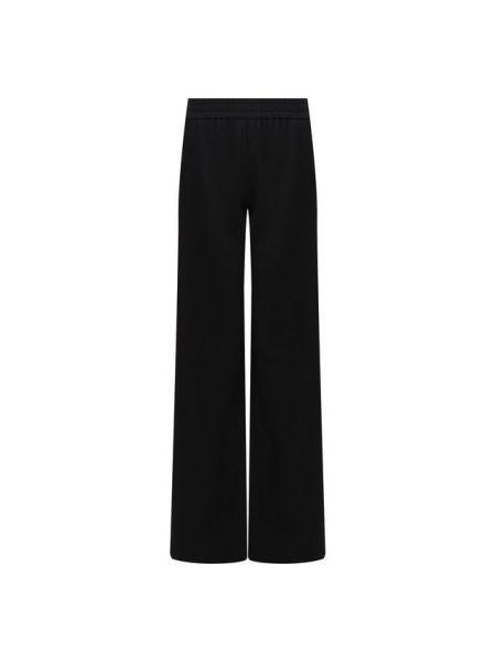 Шерстяные расклешенные спортивные брюки с поясом для сна Brandon Maxwell