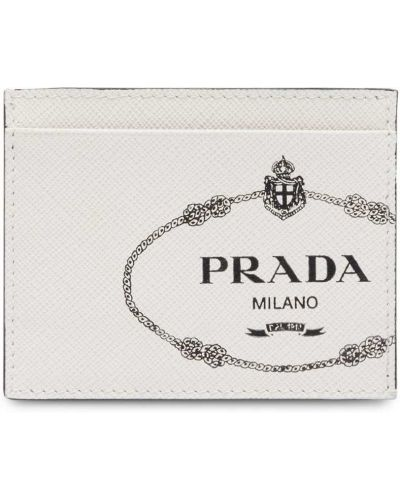 Визитница белый Prada