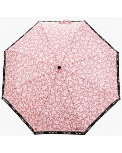 Складной зонт - розовый Tous