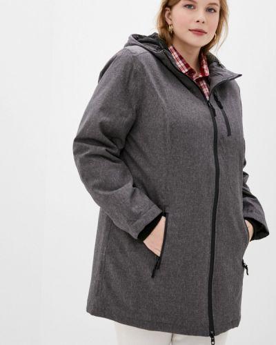 Теплая серебряная утепленная куртка Ulla Popken