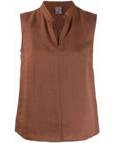 Блузка без рукавов бежевый Ql2