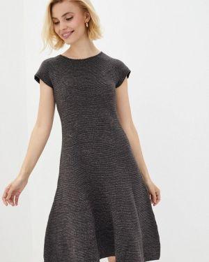 Клубное серое вязаное платье Nataclub