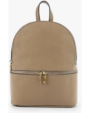 Кожаный рюкзак - бежевый Pulicati