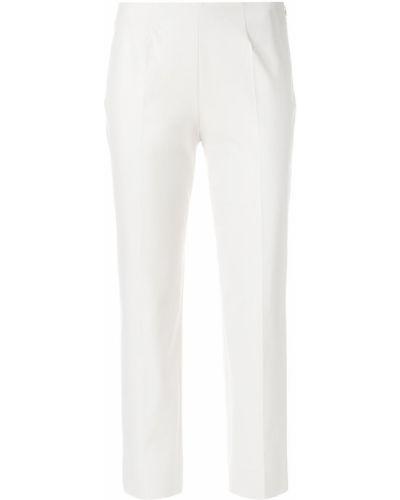 Укороченные брюки серые белые Piazza Sempione