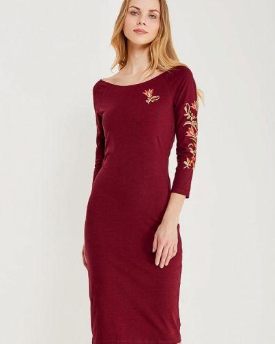 Платье бордовый красный Oodji