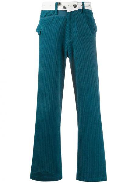Niebieskie spodnie sztruksowe z paskiem Ader Error