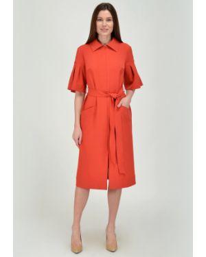 Платье с поясом со складками платье-сарафан Viserdi