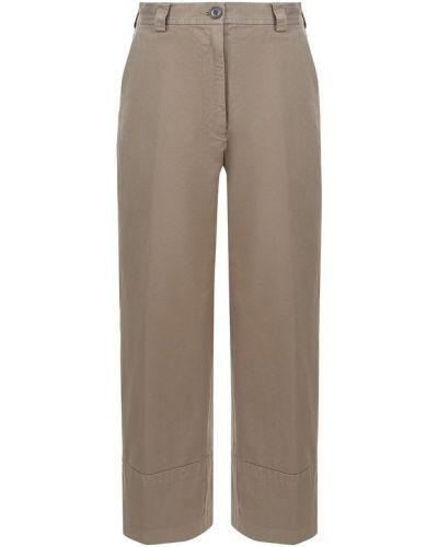 Классические брюки укороченные прямые с отворотами Dries Van Noten