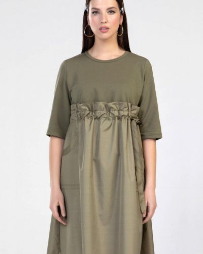 Повседневное платье хаки Prima Linea