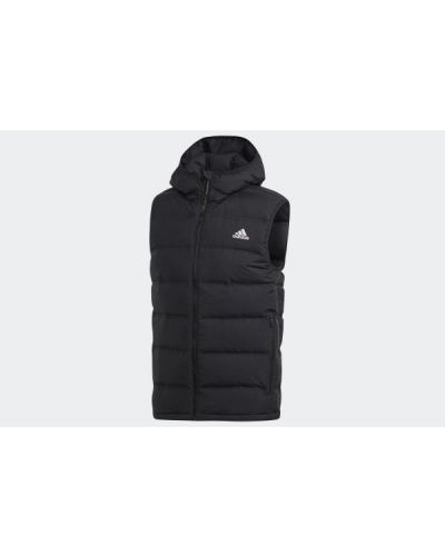 Czarna kamizelka sportowa z kapturem Adidas