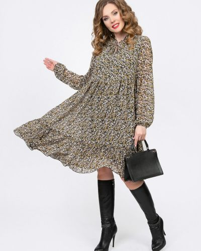 С рукавами трикотажное платье макси с вырезом Diolche